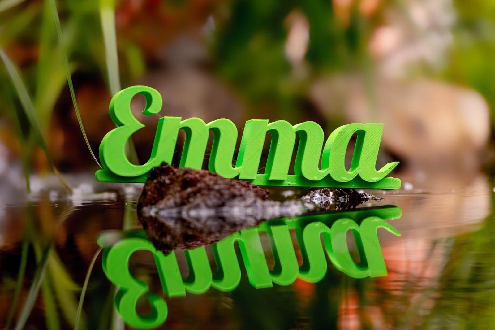 Namensschild 3d Druck Grün